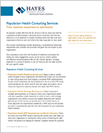Hayes Population Health Services Overview