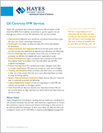 Hayes GE Centricity EMR Services Overview